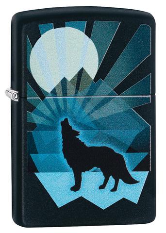 Зажигалка Zippo 29864 Wolf and Moon Design