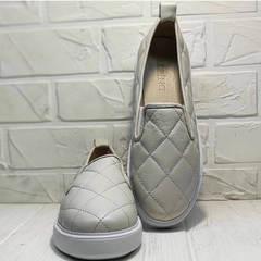 Женские туфли слипоны женские кожаные Alpino 21YA-Y2859 Cream.