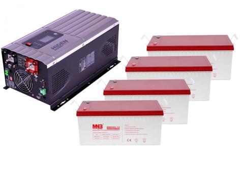 Комплект ИБП HPS30-5048-АКБ MM200 (48в, 5000Вт)