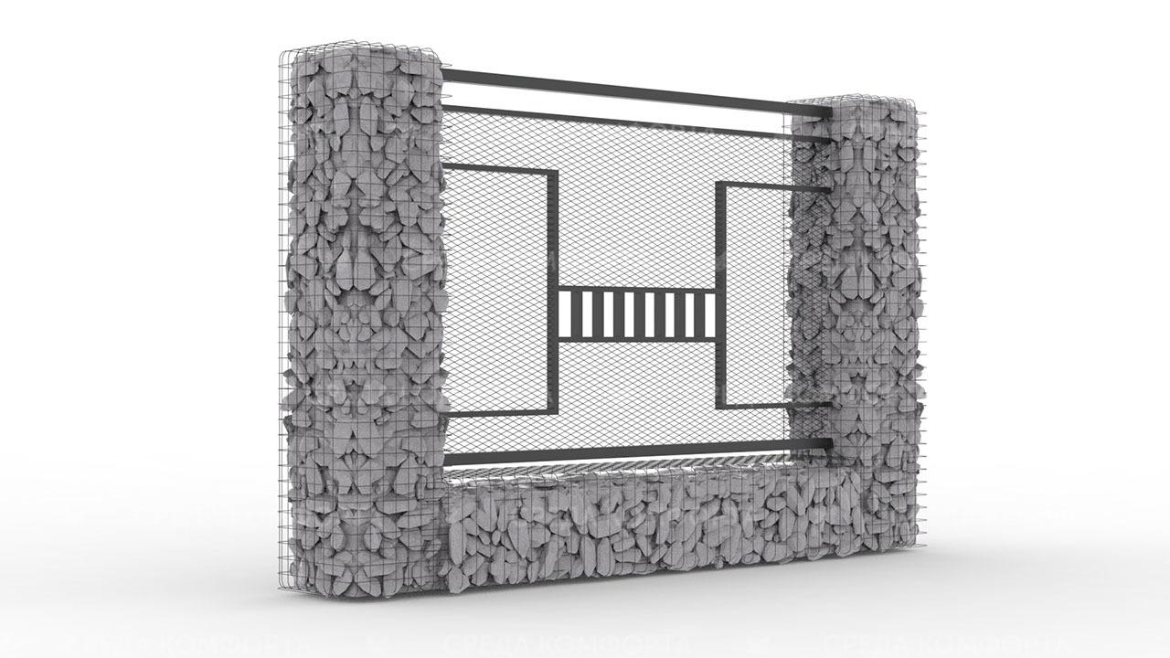 Забор из сетки рабицы ZBR0195