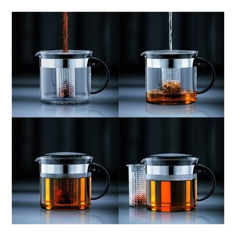 Чайник заварочный с фильтром Bodum Bistro Nouveau (1 литр), черный