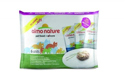 Набор паучей Almo Nature Multipack Classic Jelly Tuna