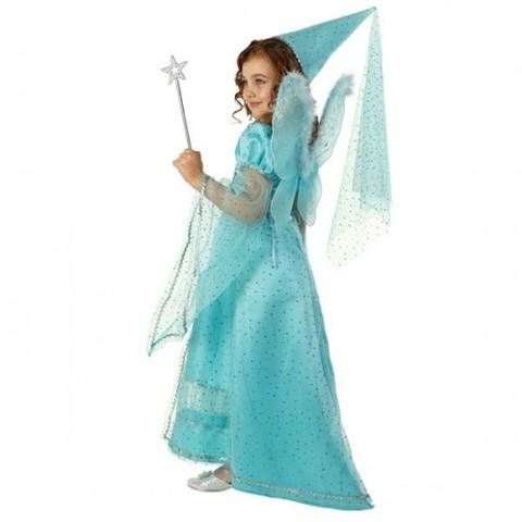 Детский карнавальный костюм Фея сказочная голубая