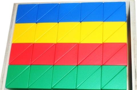Цветные призмы - набор из дерева