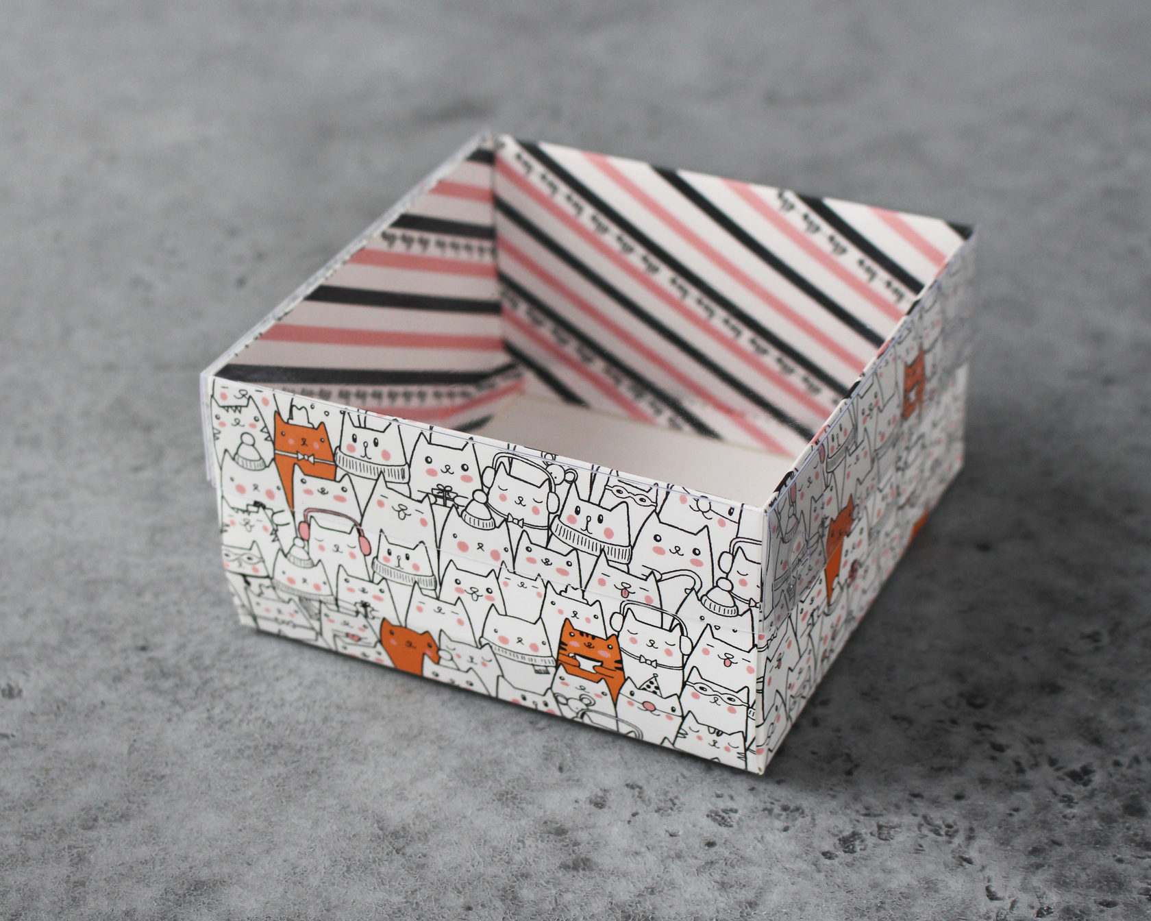 Коробка для сладостей «Котики», 12х6х11,5 см