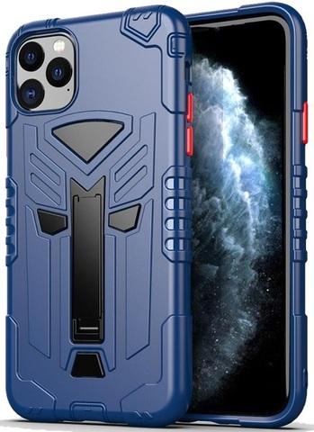 Чехол для iPhone 11 Pro серии Dual X с магнитом и складной подставкой, синего цвета от Caseport