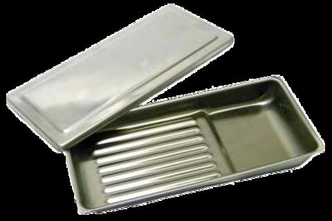 Лоток стоматологический скошенный 195х90х25 мм с крышкой