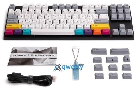 Игровая клавиатура Varmilo VA87M CMYK Cherry MX Brown (VA87MN2W/LLK12RB)