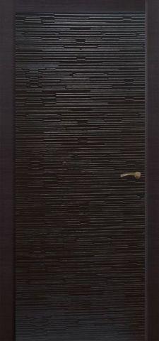 Дверь Палермо Техно (чёрное дерево, глухая шпонированная), фабрика Ростра