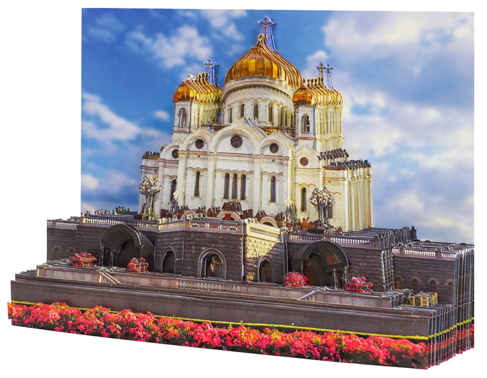 Папертоль Храм Христа Спасителя — собранная модель, вид сбоку