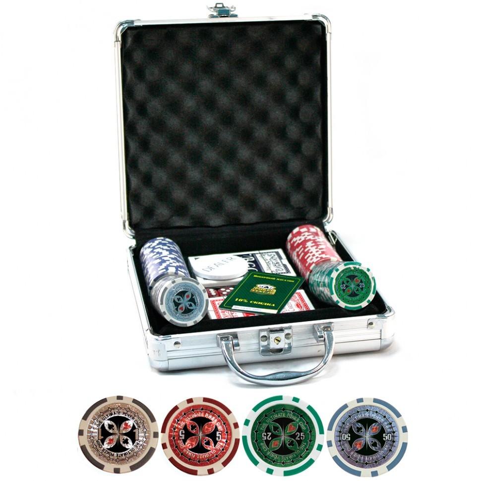 Набор для покера Ultimate 100 фишек