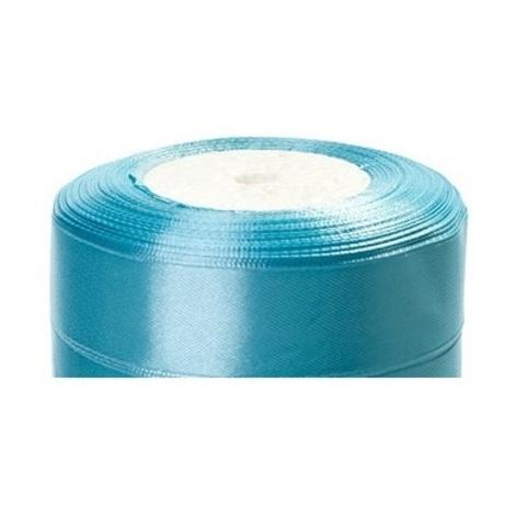 Лента атласная (размер:25мм х 25 ярдов) Цвет:светло-голубой_1