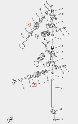 Колпачек маслосъемный для лодочного мотора F20 Sea-PRO (5-7)