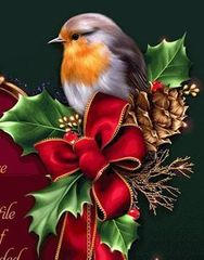Картина раскраска по номерам 30x40 Птица на праздничном стуле