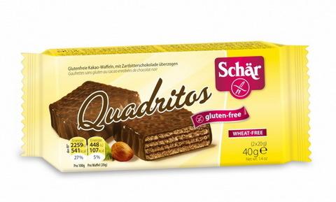 Вафел батончик (Quadritos) в шоколаде 40г б/глютена Schar