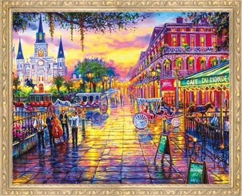 Алмазная Мозаика 40x50 Красочный город