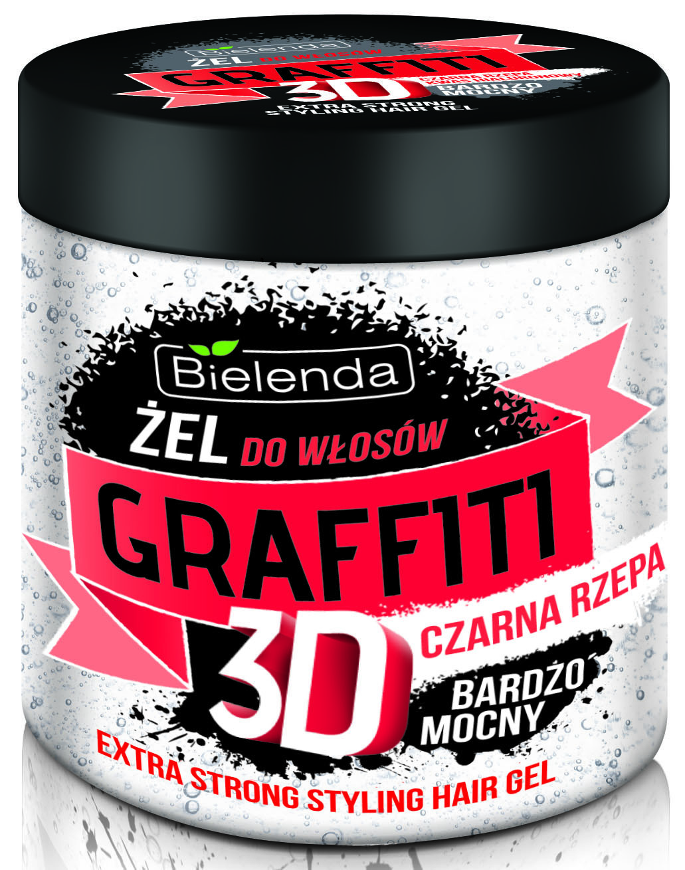 ГРАФФИТИ 3D Гель для волос с черной  репой 250мл