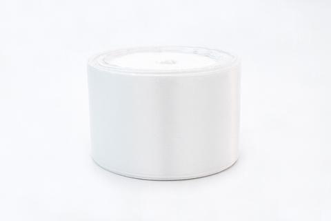 Лента атласная,5 см, белый