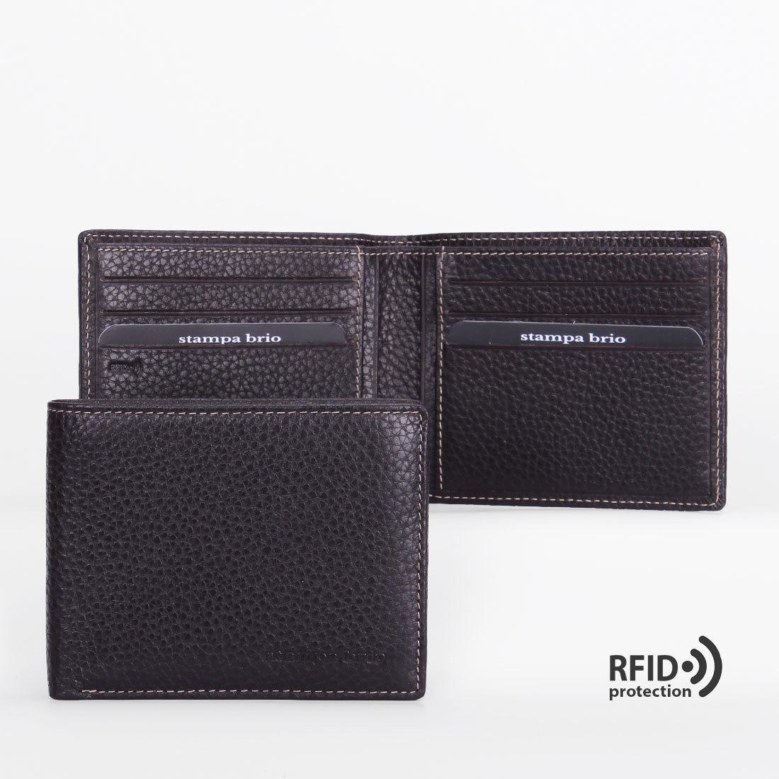 648 R - Портмоне с потайным монетником и RFID защитой