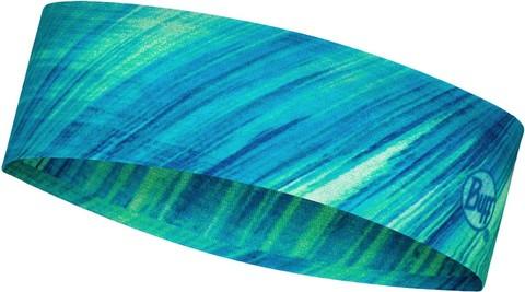 Узкая спортивная повязка на голову Buff Headband Slim CoolNet Pixeline Lime фото 1