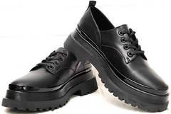 Осенние женские туфли на платформе Marani magli M-237-06-18 Black.