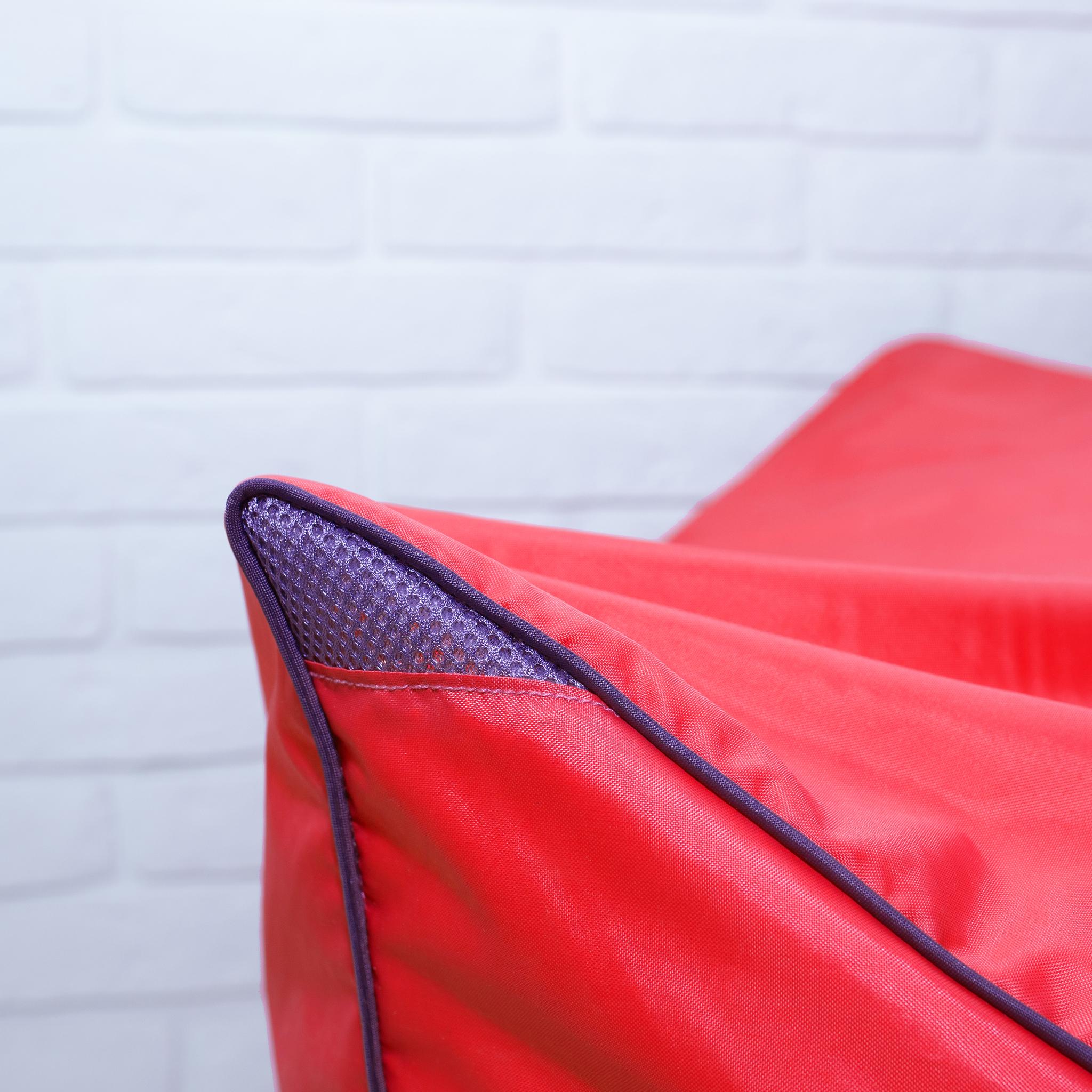 Шезлонг плащёвка (красный)