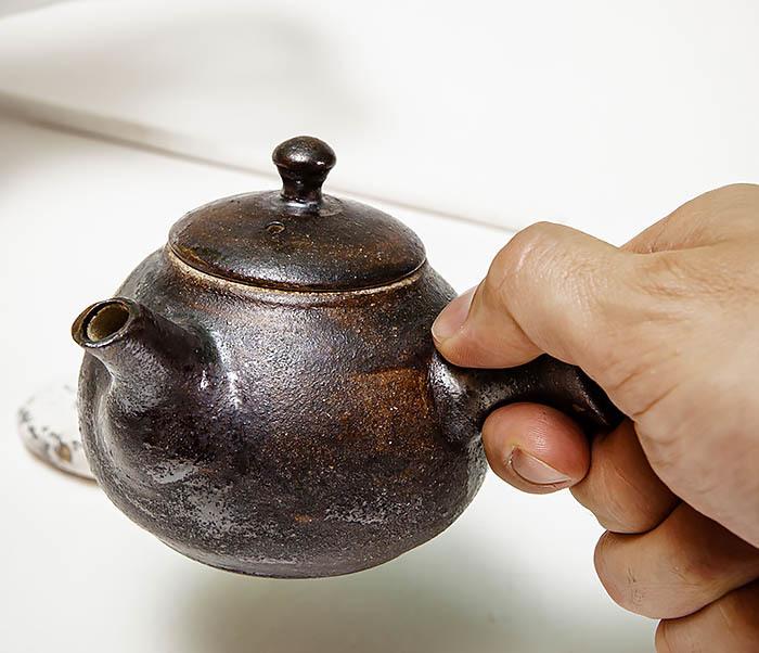 POT102 Чайник ручной работы в японском стиле («Kюсу») фото 09