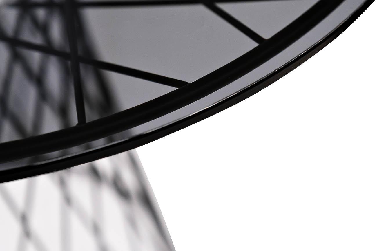 46AS-ET4633-BL Стол журнальный темн.стекло/черн.металл d60*58см