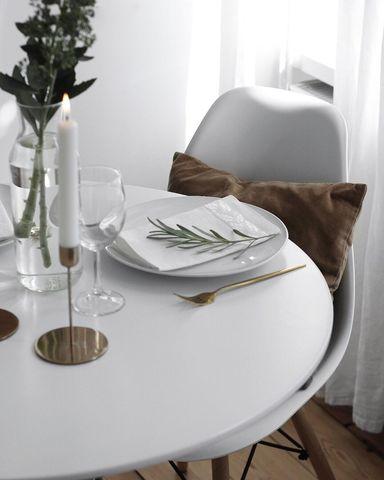 Кухонный интерьерный круглый стол Tulip Style (D80/90см)
