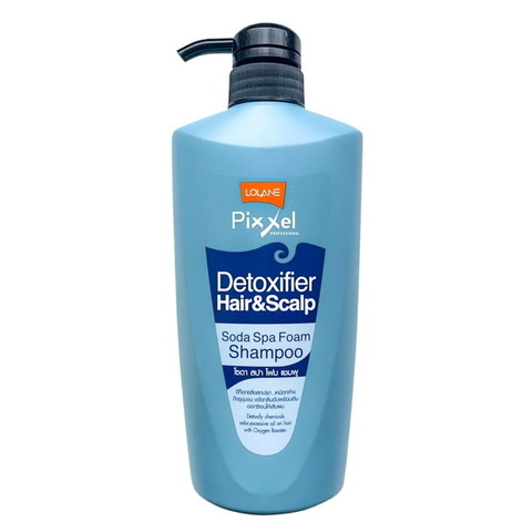 Освежающий детокс-шампунь Lolane Pixxel Detoxifier Soda Spa 500мл.