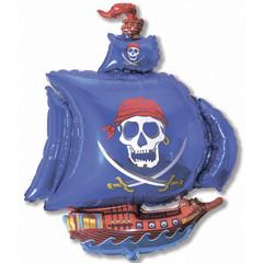 F Мини-фигура, Пиратский корабль (синий), 14