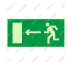 """Фотолюминесцентный знак Е04 """"Направление к эвакуационному выходу налево"""""""