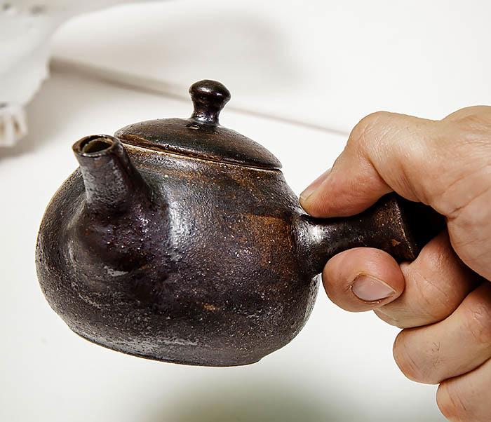 POT102 Чайник ручной работы в японском стиле («Kюсу») фото 10