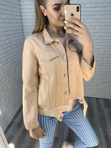 розовая джинсовая куртка nadya