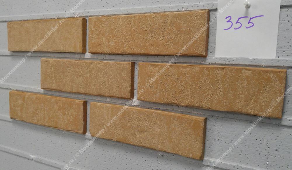Stroeher - 355 sandschmelz, Zeitlos, состаренная поверхность, ручная формовка, 400x71x14 - Клинкерная плитка для фасада и внутренней отделки