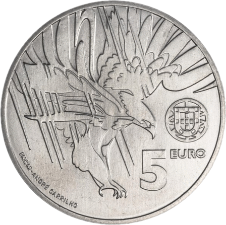 5 евро Португалия - Имперский орёл. 2018 год