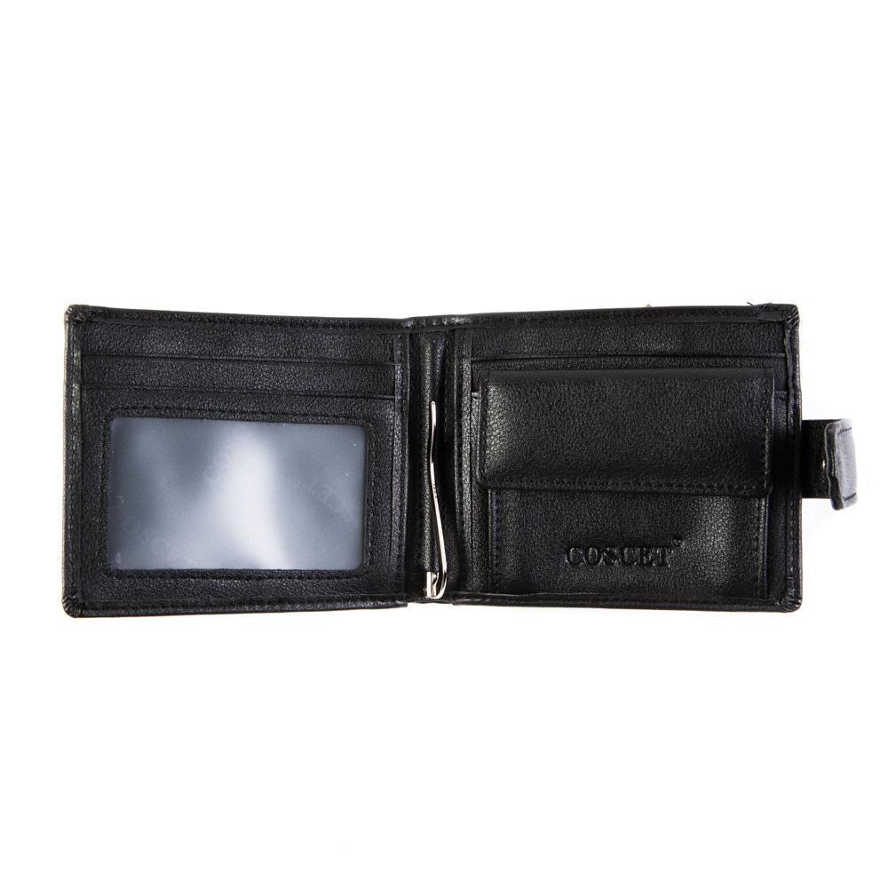 Портмоне со скобой из иск. кожи с зажимом Coscet B171-16A