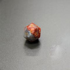 Куб D20: Коричнево-серый