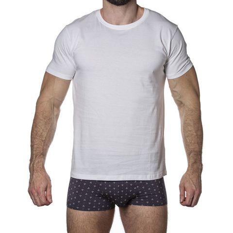 Мужская футболка белая Sergio Dallini SDT750-1