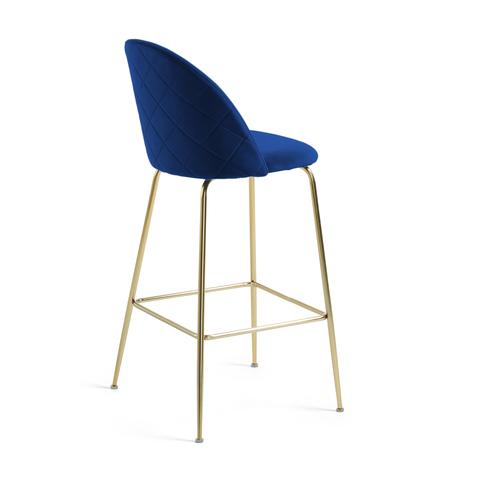 Барный стул Mystere синий бархат 76 см