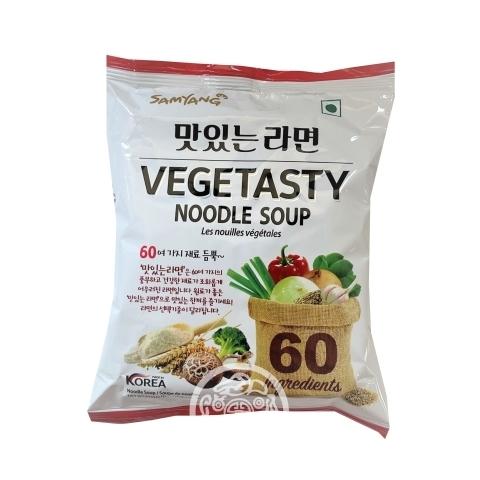 Лапша б/п Vegetasty noodle soup пшеничная с овощами 115г  Samyang Корея