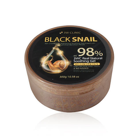 3W CLINIC Гель универсальный ЧЕРНАЯ УЛИТКА Black Snail Natural Soothing Gel, 300 гр