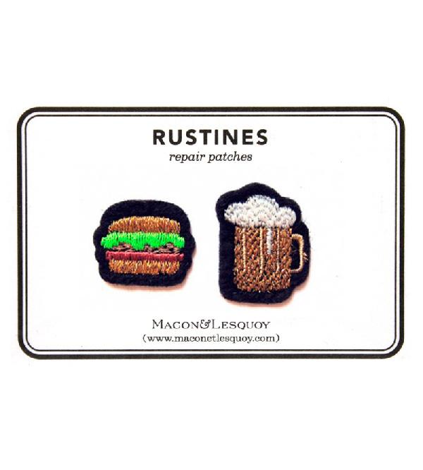 Набор патчей-заплаток  Hamburger&Beer от Macon&Lesquoy
