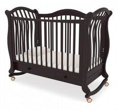 Кровать детская Габриэлла люкс на колесиках с ящиком махагон