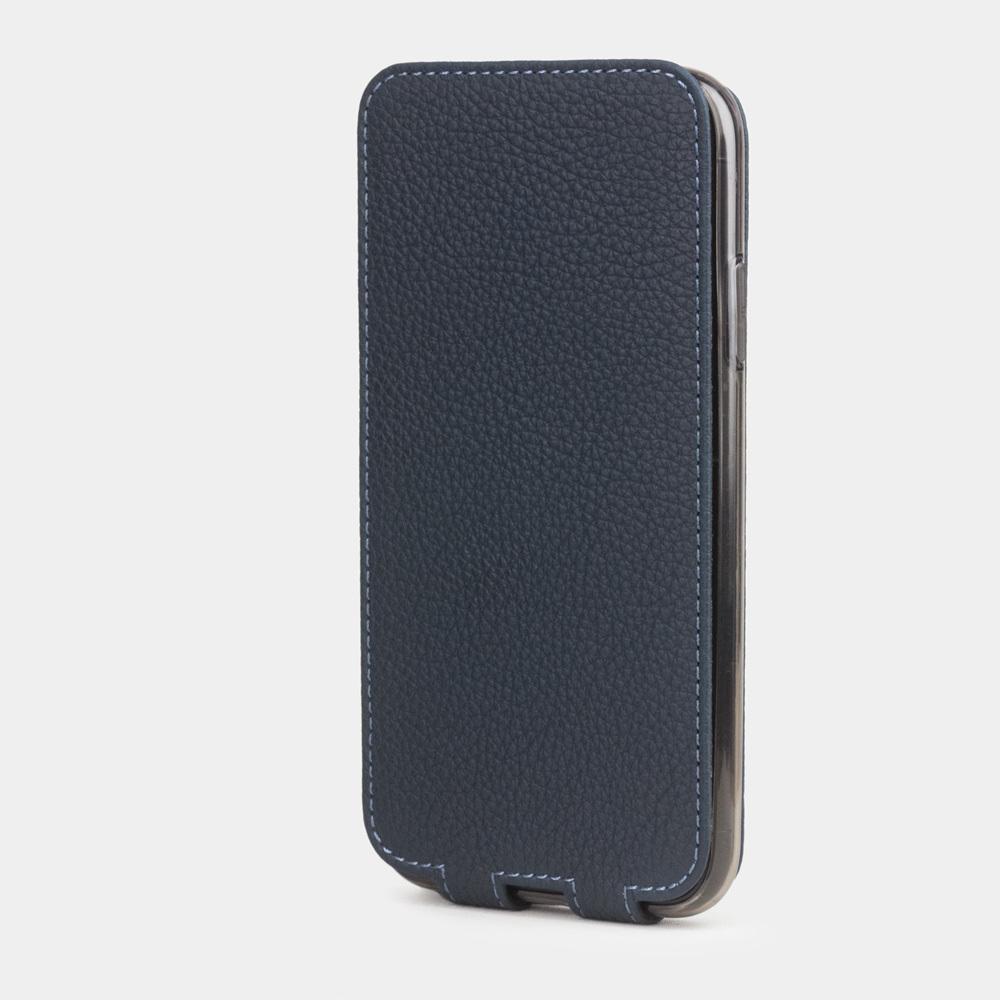 Чехол для iPhone 11 из натуральной кожи теленка, цвета синий мат