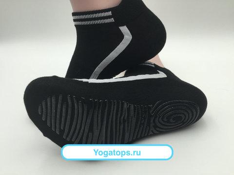 Носки с нескользящей подошвой - Усиленные (р. 40-42, черно-белые)