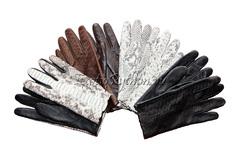 Перчатки из кожи питона AC-1