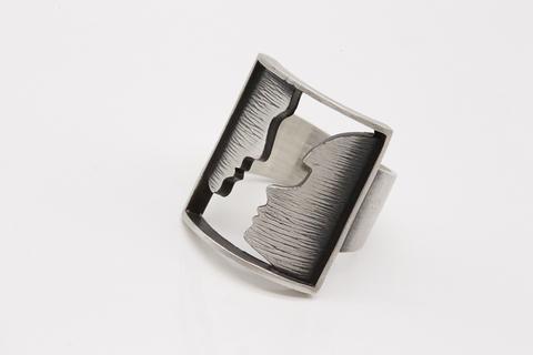 Кольцо из серебра без камней КО-1-9 Литва