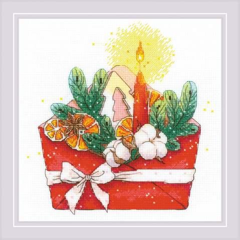 Набор для вышивания крестом «Новогоднее письмо» (1907)
