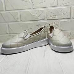 Женские кожаные слипоны кеды на платформе 2,5 см Alpino 21YA-Y2859 Cream.
